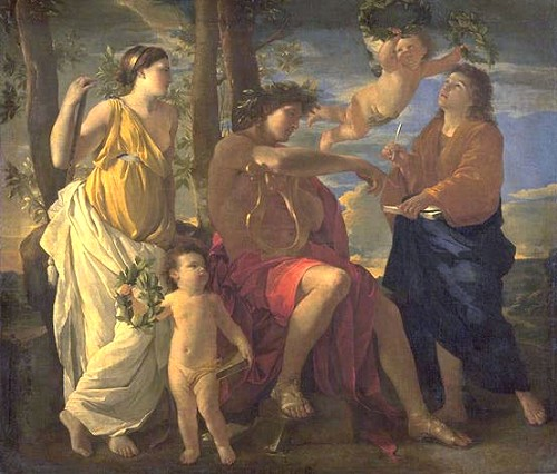 Inspiration of the Poet by Nicolas Poussin