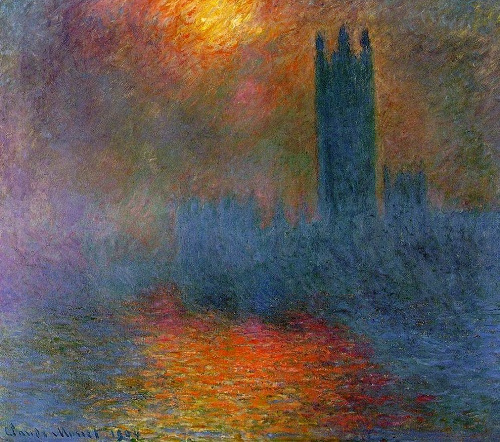 London, the Houses of Parliament by Claude Monet
