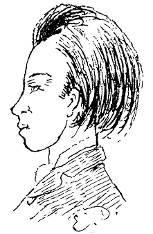 Arthur in 1871. Drawing by Delahaye