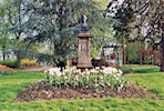 Charleville, Rimbaud's bust in the public garden of the Station