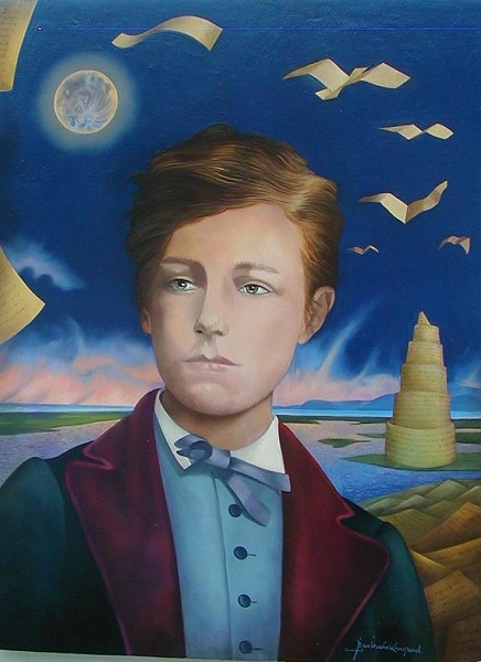 Portrait of Arthur Rimbaud by Jean-Michel Lengrand