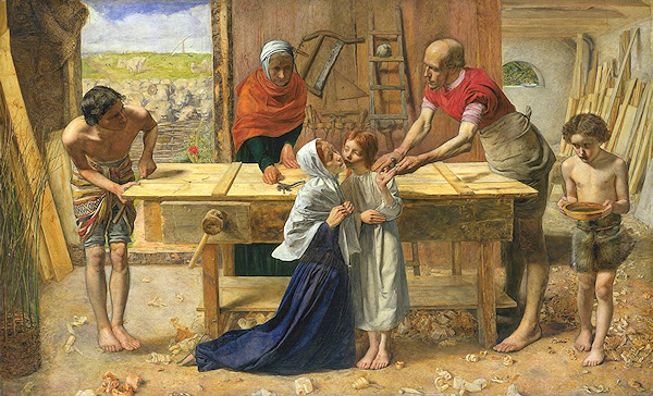 Sir John Everett Millais (1829-1896) - Christ in the House of His Parents (The Carpenter's Shop)